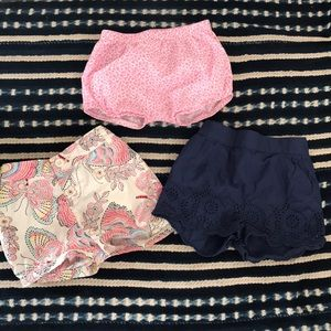 Bundle Baby GAP girl shorts bloomers 18-24 months